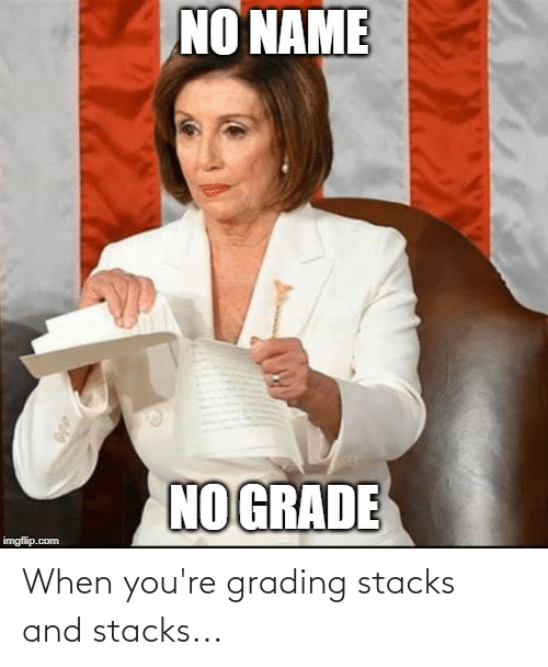 Youre,  Grading, and And: When you're grading stacks and stacks...