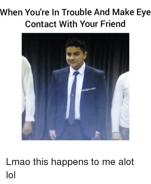 how to make eye contact with a girl