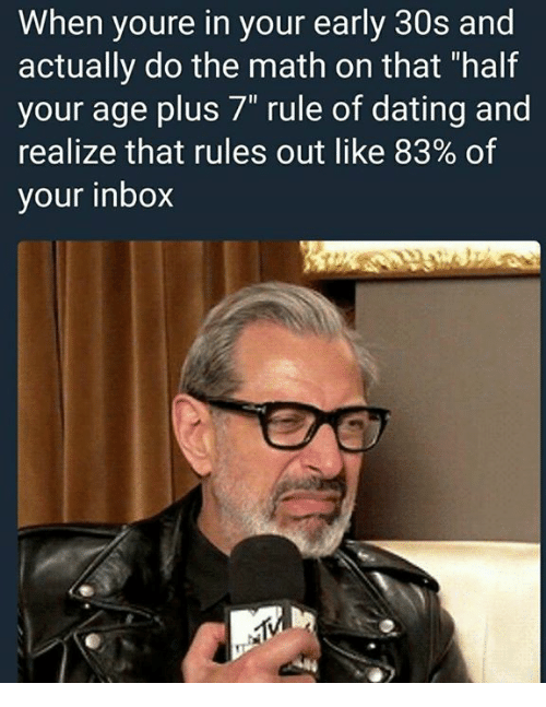 Dating half your age