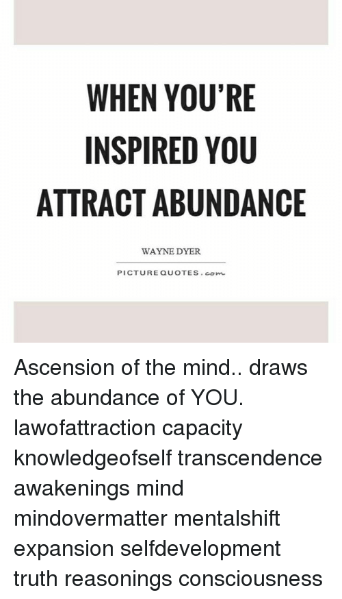 When Youre Inspired You Attractabundance Wayne Dyer Picture Quotes
