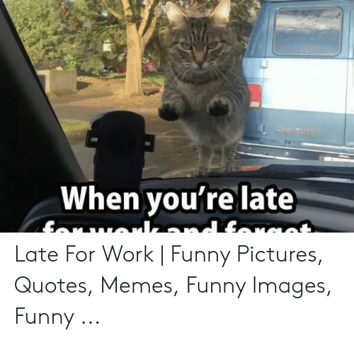 When Youre Late Late For Work Funny Pictures Quotes Memes
