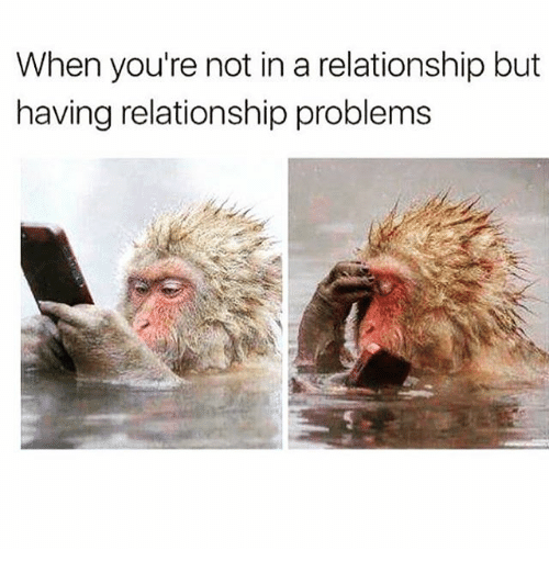 Girl Memes, In a Relationship, and Relationship: When you're not in a relationship but  having relationship problems