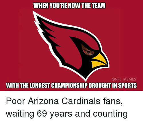 when youre now the team nfl memes with the longest 6086176 ✅ 25 best memes about arizona cardinal arizona cardinal memes