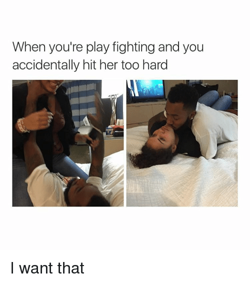 the gallery for gt couple play fighting meme