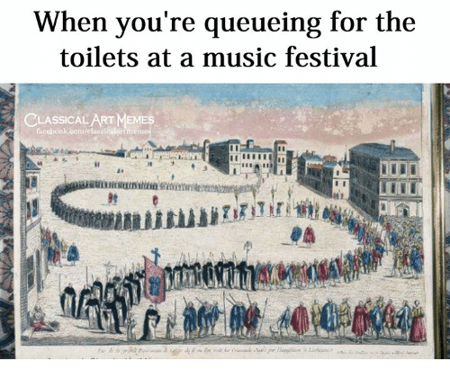 Facebook, Music, and facebook.com: When you're queueing for the  toilets at a music festival  CLASSICAL  facebook.com/classicailiinmenes-