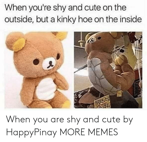 Cute, Dank, and Hoe: When you're shy and cute on the  outside, but a kinky hoe on the inside When you are shy and cute by HappyPinay MORE MEMES