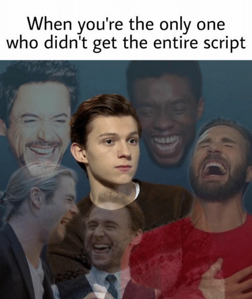 Memes, Only One, and 🤖: When you're the only one  who didn't get the entire script