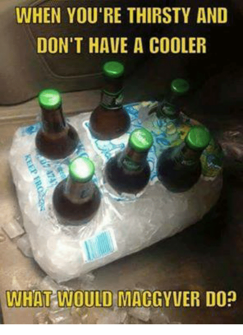 When You 39 Re Thirsty And Don 39 T Have A Cooler What Would