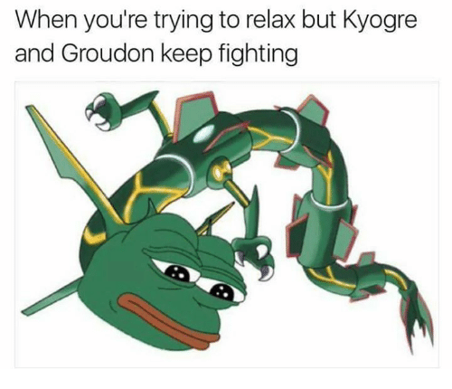 photos officielles 77232 4ada6 When You're Trying to Relax but Kyogre and Groudon Keep ...