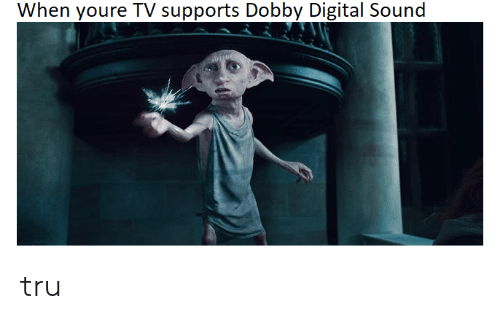 Sound, Digital, and Youre: When youre TV supports Dobby Digital Sound tru