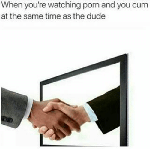 Cum at the same time