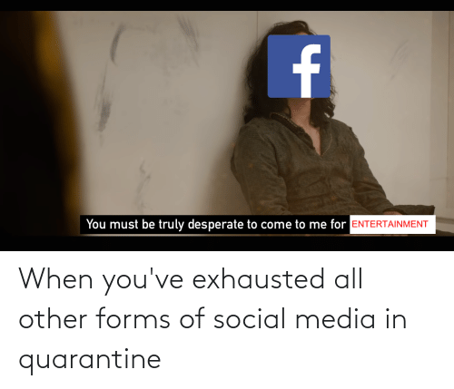 Social Media, Advice Animals, and Media: When you've exhausted all other forms of social media in quarantine