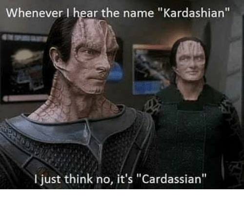 Cardassian Kardashian Difference