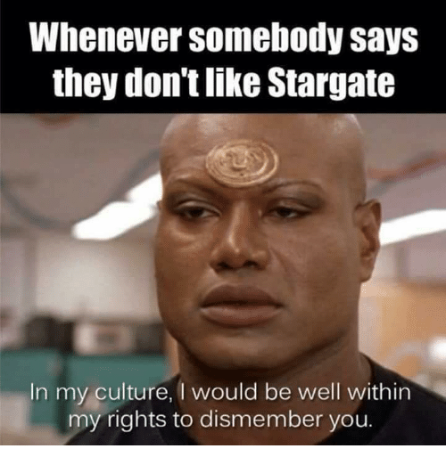 whenever somebody says they dont like stargate in my culture 30926777 whenever somebody says they don't like stargate in my culture i