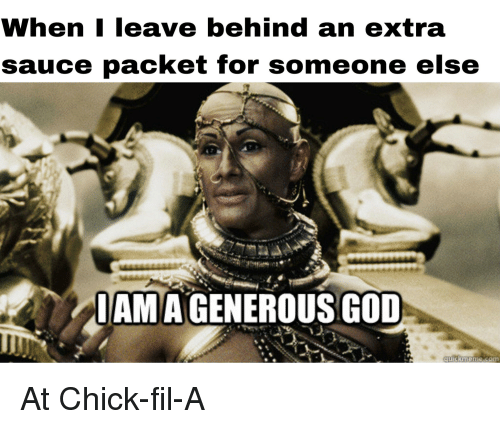 WhenI Leave Behind an Extra Sauce Packet for Someone Else IAMA