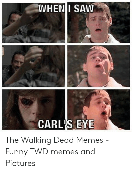 Wheni Saw Carl S Eye The Walking Dead Memes Funny Twd Memes And