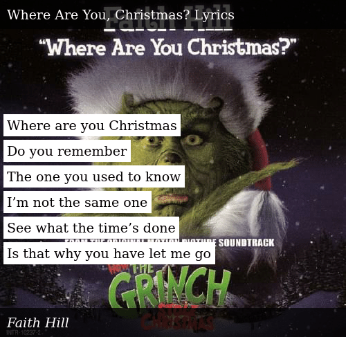 Where Are You Christmas Lyrics.Where Are You Christmas Do You Remember The One You Used To
