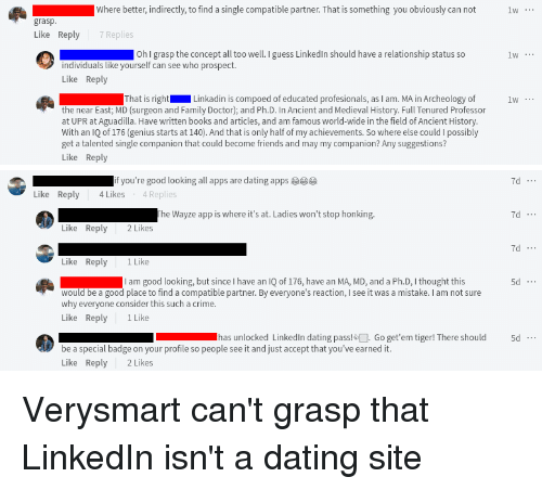 Of Course People Are Using LinkedIn as a Dating Site