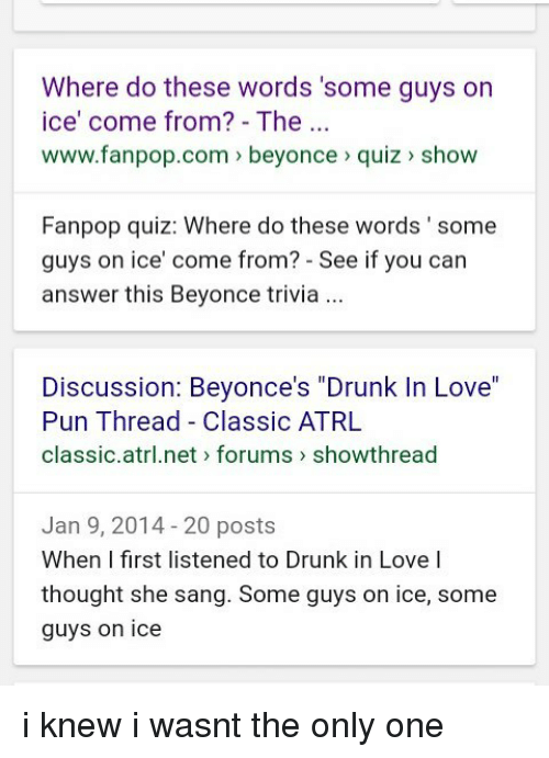 Where Do These Words 'Some Guys on Ice' Come From? - The