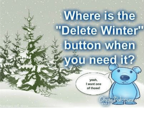 Where Is the Delete Winter Button When Yeah I Want One of Those | Meme on ME.ME