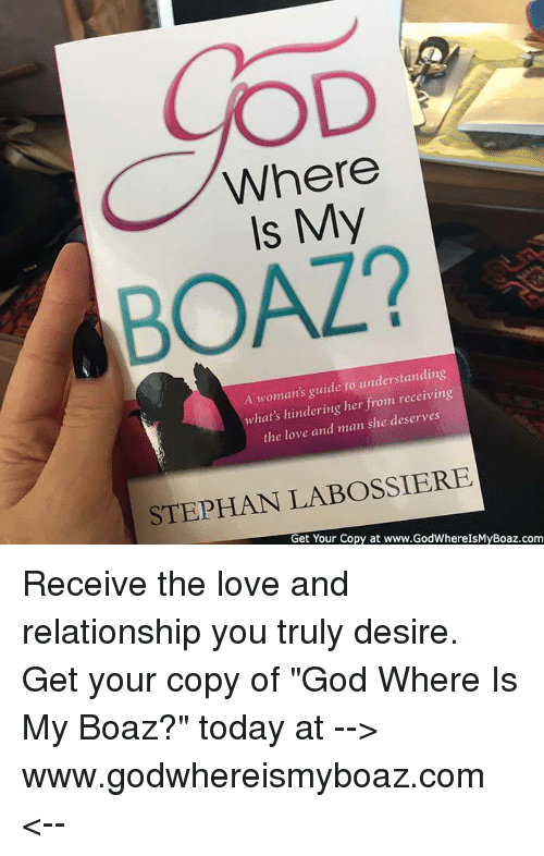 Where My Boaz A Womans Guide To Understanding Hats Hindering Her