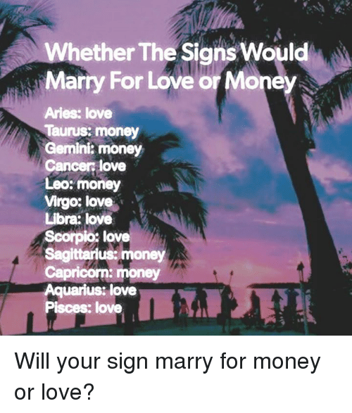 What sign will i marry