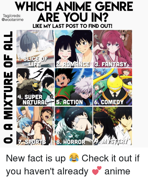 Memes And Eds WHICH ANIME GENRE ARE YOU IN Tag