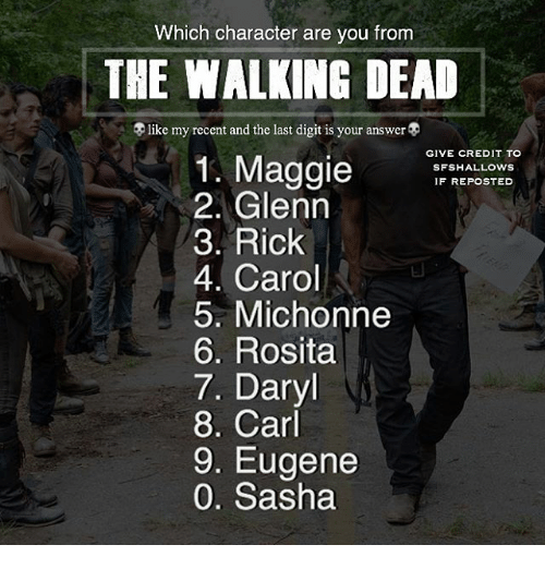 Which Character Are You From The Walking Dead Like My Recent And The