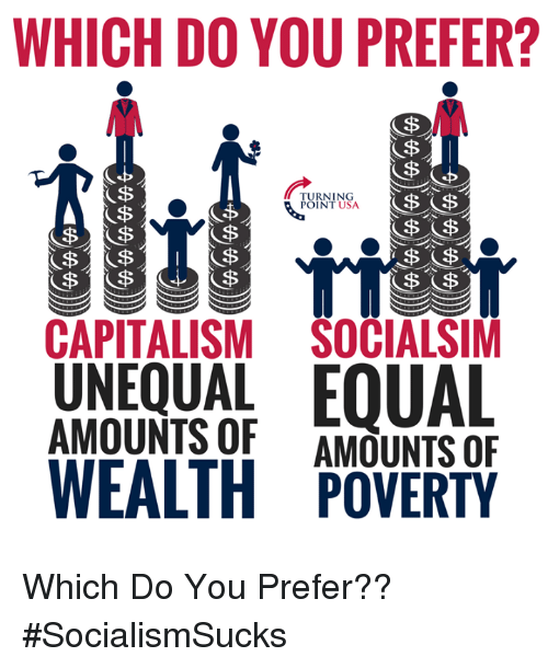 which do you prefer turning point usa capitalism socialsim unequal