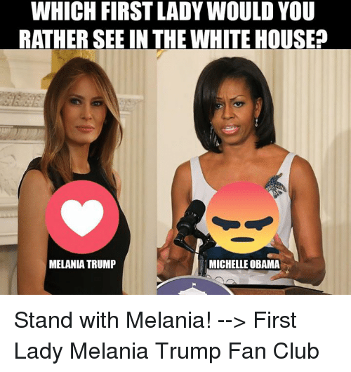 Which First Lady Would You Rather See In The White House Melania Trump Michelle Obama -3888