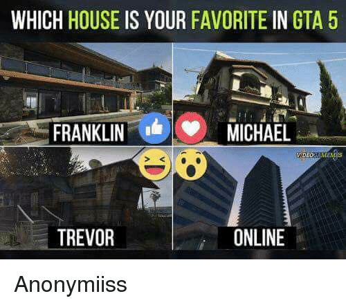 WHICH HOUSE IS YOUR FAVORITE IN GTA 5 FRANKLIN MICHAEL VIDEO ONLINE