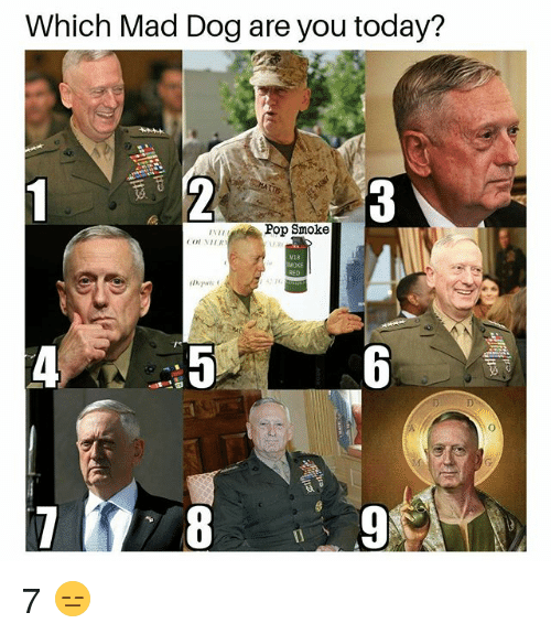 Memes, Pop, and Today: Which Mad Dog are you today?  Pop Smoke  V18 7 😑
