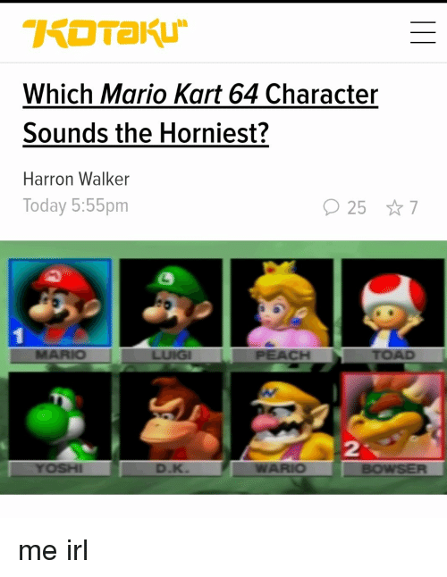 Which Mario Kart 64 Character Sounds the Horniest? Harron
