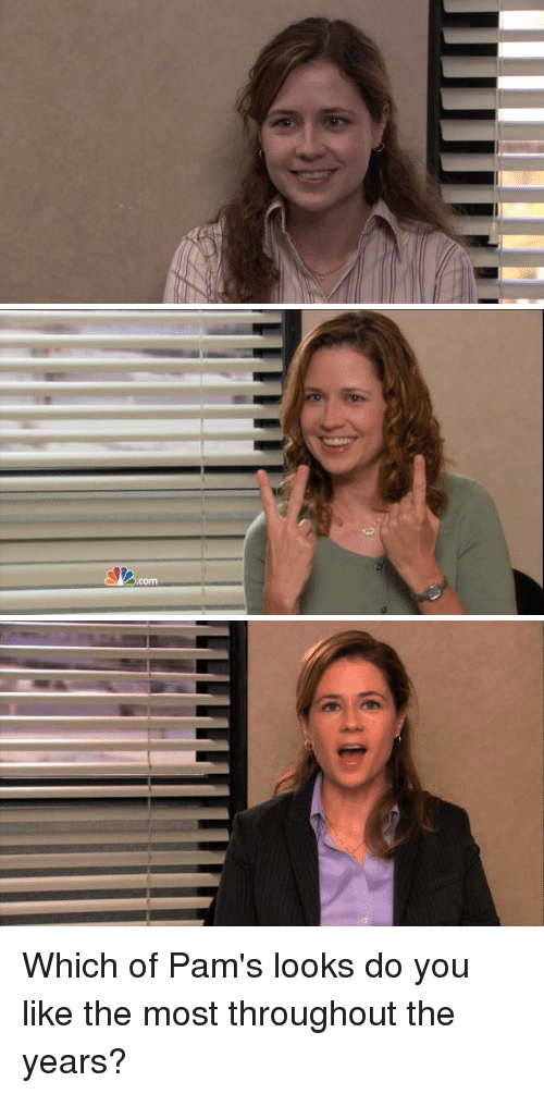 The Office, You, and Like: Which of Pam's looks do you like the most throughout the years?