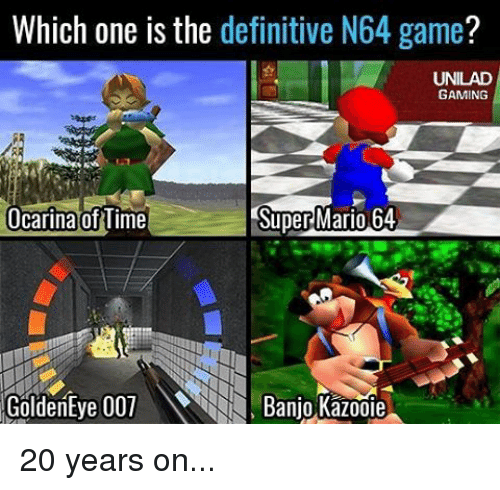 Which One Is the Definitive N64 Game? UNILAD GAMING Ocarina of Time