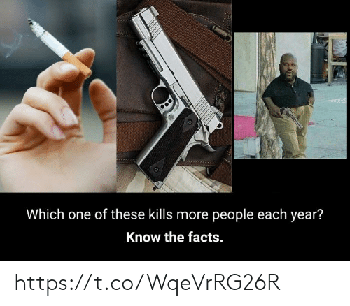 Facts, One, and More: Which one of these kills more people each year?  Know the facts. https://t.co/WqeVrRG26R