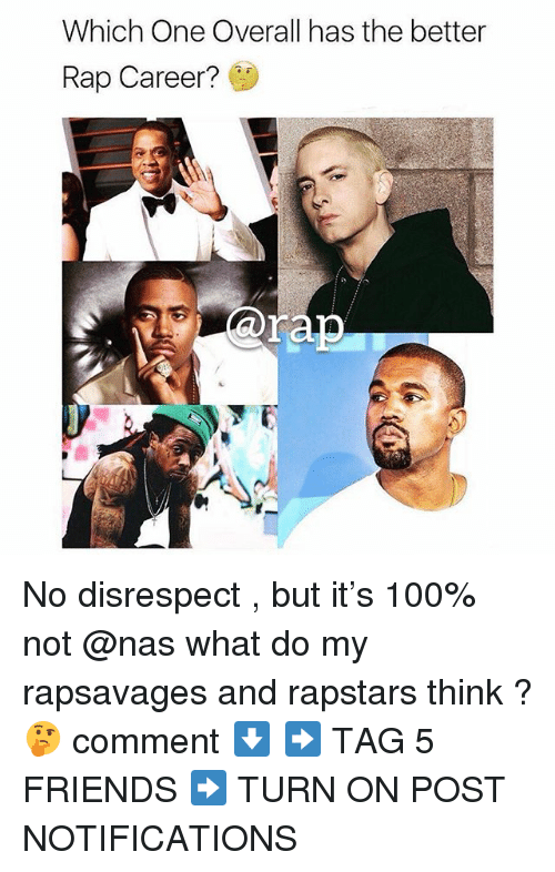 Anaconda, Friends, and Memes: Which One Overall has the better  Rap Career?  ra No disrespect , but it's 100% not @nas what do my rapsavages and rapstars think ? 🤔 comment ⬇️ ➡️ TAG 5 FRIENDS ➡️ TURN ON POST NOTIFICATIONS