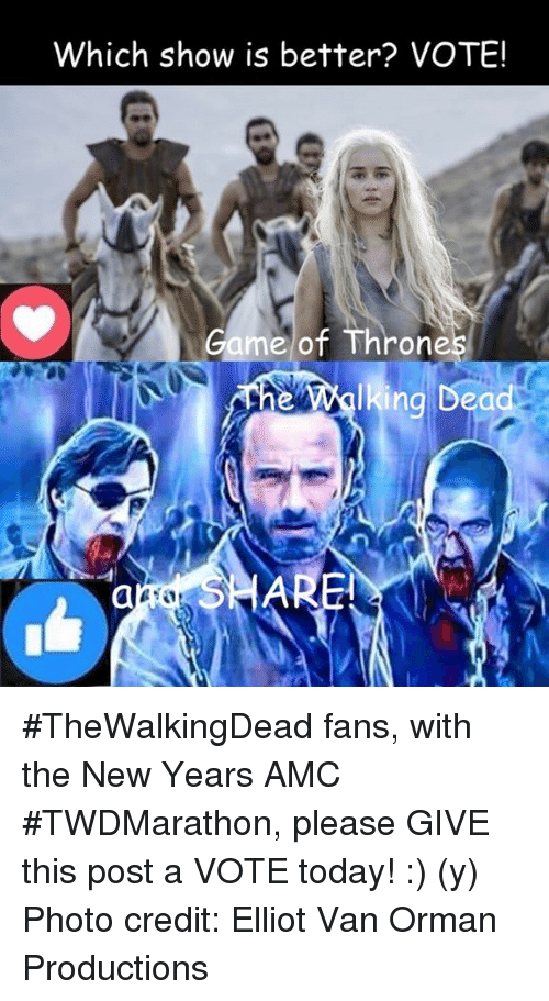 b56a1e00536884 Which Show Is Better  VOTE! Game of Throne Lking Dea  TheWalkingDead ...