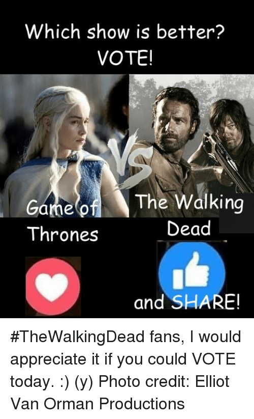 533e48fecbf57a Which Show Is Better  VOTE! The Walking Game of Dead Thrones and ...