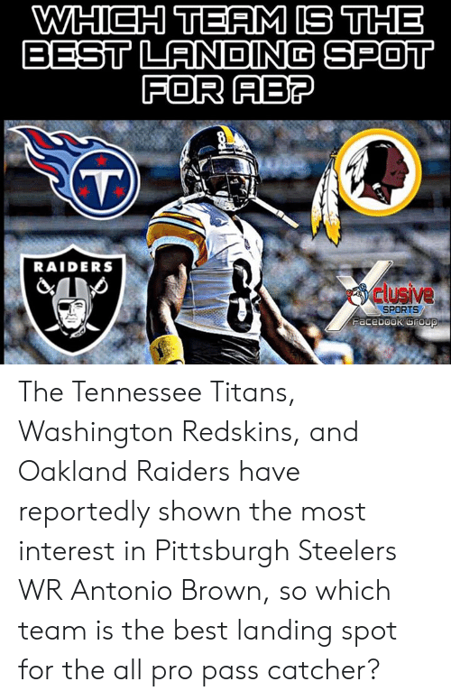 95f07b05 WHICH TEAM IS THE BEST LANDIN SPOT FOR AB? RAIDERS Clusive SPORTS ...