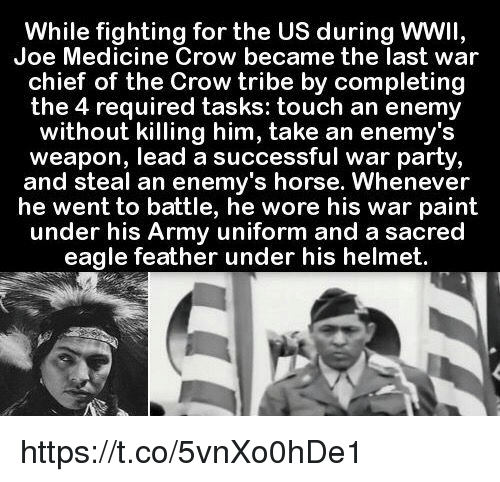 While Fighting For The Us During Wwii Joe Medicine Crow Became The
