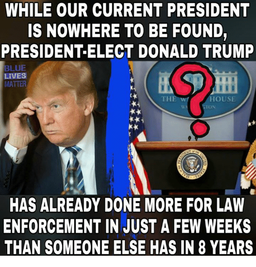 Trump Is Not Above The Law Home: 25+ Best Memes About Blue Lives Matter