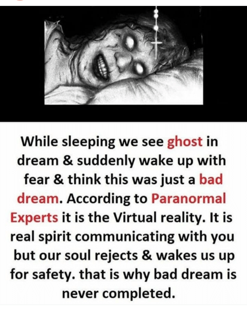 While Sleeping We See Ghost in Dream & Suddenly Wake Up With