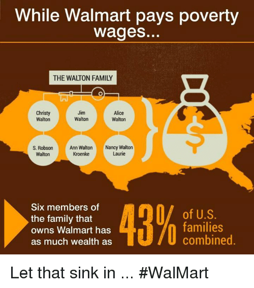 While Walmart Pays Poverty Wages THE WALTON FAMILY Christy