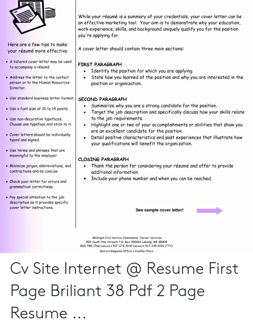 While Your Resume Is A Summary Of Credentials