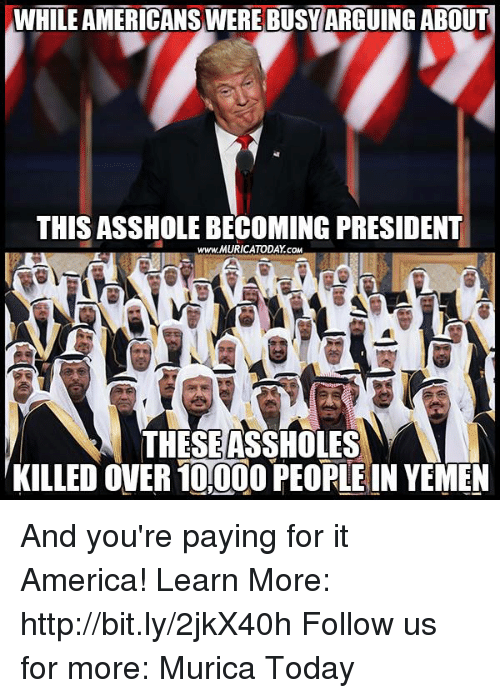 Outgoing President Asshole
