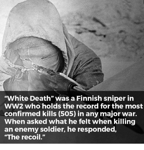 White Death Was a Finnish Sniper in WW2 Who Holds the Record