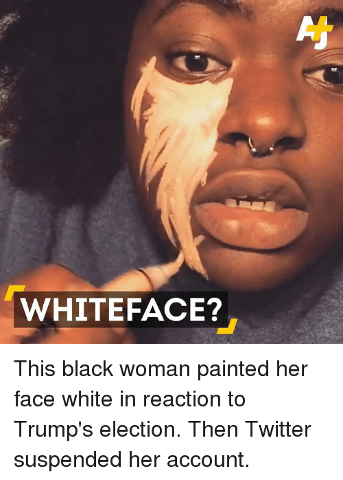 white faces