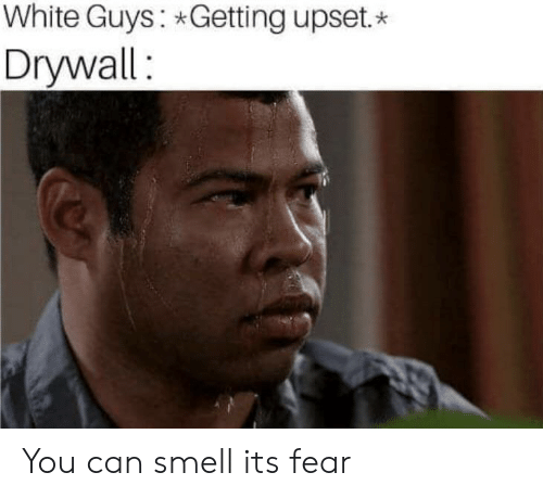 White Guys Getting Upset Drywall You Can Smell Its Fear Smell