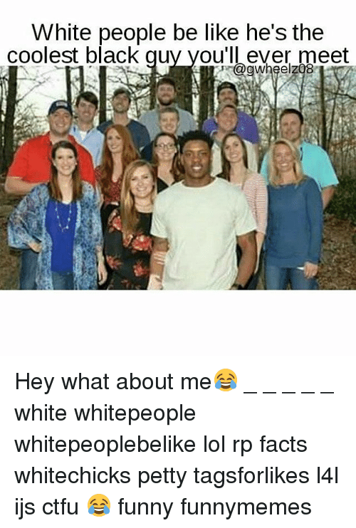 Black and white people meet